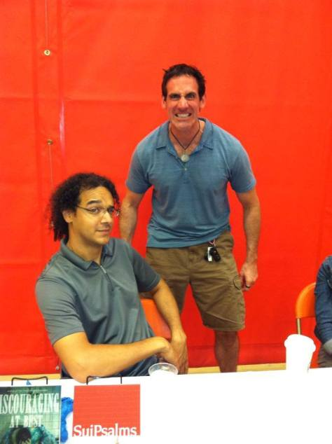 Lawson (left) and Wilson (right) at the 2013 In Your Write Mind book signing.