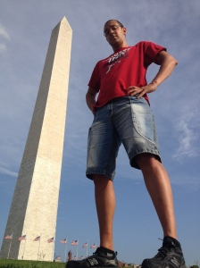 John is as tall as the Washington Monument