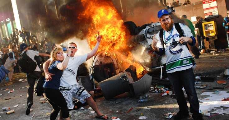 white people burning things