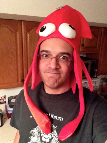 Yes. There is a squid on my head.